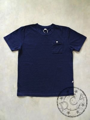 Pure Blue Japan - 5384 - Indigo Dyed - Jersey T-Shirt with Work Pocket