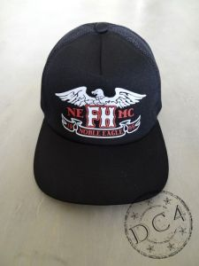 The Flat Head   *** EAGLE ***  Mesh Cap  -  Black