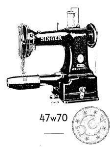 Denim Repair Service - SINGER 47W70