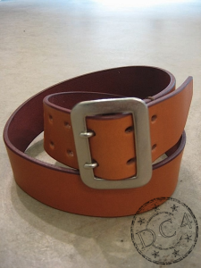 Dry Bones Belt - Dual Prong - Steer Hide Leather - Tan