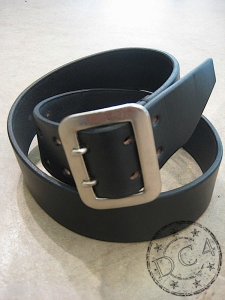Dry Bones Belt - Dual Prong - Steer Hide Leather - Black