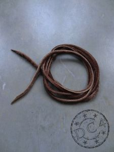 First Arrow`s - Deerskin Leather Cord - Brown