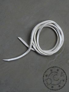 First Arrow`s - Deerskin Leather Cord - White