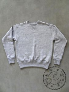 FULLCOUNT - Heavy Loopwheeled Sweathshirt - FLAT SEAMER sewn - Double V - Set In Sleeve -  Heather Grey