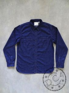 FULLCOUNT - 4890W - Denim Work Shirt - 100% Zimbabwe Cotton - 8oz - One Washed