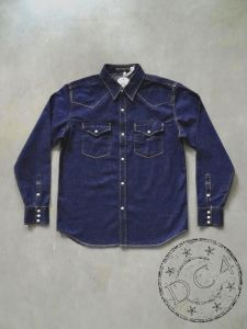 FULLCOUNT - 4894W - Denim Western Shirt - 100% Zimbabwe Cotton - 8oz - One Washed