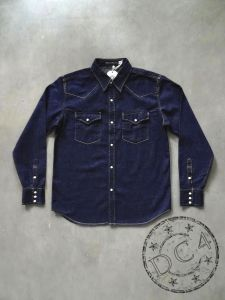 FULLCOUNT - 4894 - Denim Western Shirt - Zimbabwe Cotton - 8oz - One Washed