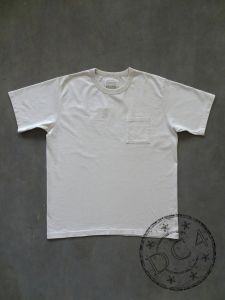 FULLCOUNT - 5805P-20 - BASIC POCKET T-SHIRT - FLAT SEAMER sewn - Ecru Color - 100% Cotton - ATHLETIC WEAR