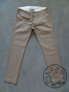 ONI Denim - 757 Khaki Beige Chinos - 11.9oz Selvedge - Relaxed Tapered