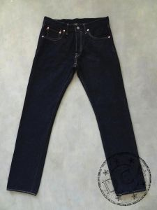 ONI Denim - 546RC - 16oz RED CALIPER Denim - * New Fabric * - Natural Indigo - Rope Dyed - Semi Tight Straight