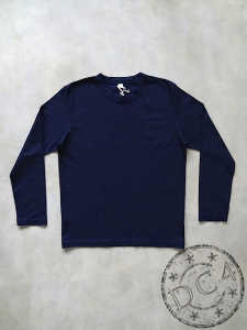 Pure Blue Japan - LS5011 - Crew Neck - Indigo Dyed - Longsleeve T-Shirt