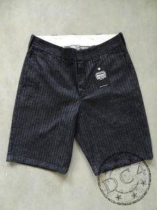 Samurai Club - SWC250C20-HB - Authentic Work Clothes - Herringbone Short Pants  - 13oz - Sulfur Dyed Black