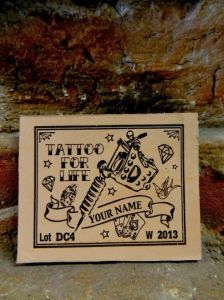 Custom Leather Patch   *** Tattoo For Life ***