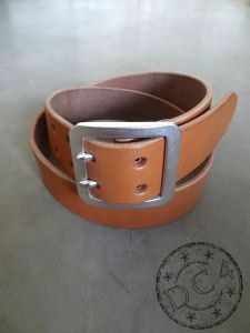 DC4 x The Flat Head - Double Prong - Saddle Leather Belt – Tan