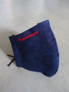 Cushman - Face Mask - Lightweight Denim with Embroidery