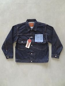 FULLCOUNT - 2102XXW - Type II Jacket - 15.5oz Selvedge Denim - 100% Zimbabwe Cotton - Classic Cut - One Washed