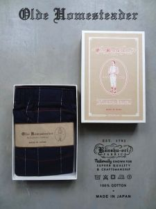 OLDE HOMESTEADER - Woven Boxer - Traditional Cotton Flannel - Navy