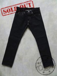 ONI Denim - 546 AIZUMI - Low Tension - Black Ink - 16oz - Tight Straight