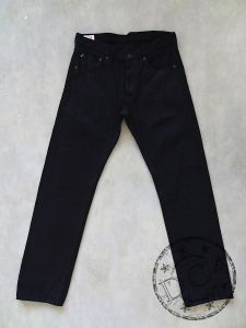 ONI Denim - 515 KIRAKU-II-BK - 12oz Selvedge Denim - Black Sulfur Rope Dyed - Semi-Tight Straight