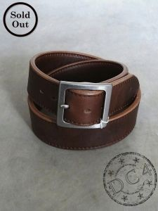 Samurai Jeans - Super Thick - Oiled Horween Leather Belt - Brown