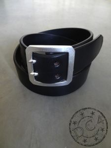 DC4 x The Flat Head - Double Prong - Saddle Leather Belt – Black