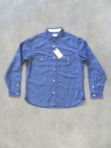 TROPHY CLOTHING - Harvest - Chambray Work Shirt - Indigo
