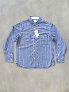 TROPHY CLOTHING - Harvest - Chambray Work Shirt  - Stripe