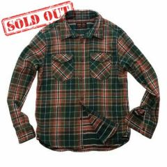 UES - 14.5oz Heavy Flannel Shirt - 502051 Green