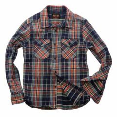 UES - 14.5oz Heavy Flannel Shirt - 502051 Navy