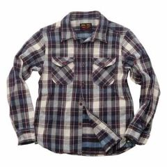 UES - 14.5oz Heavy Flannel Shirt - 502052 Navy