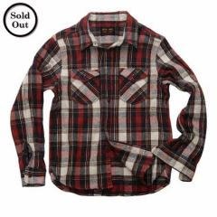 UES - 14.5oz Heavy Flannel Shirt - 502052 Red