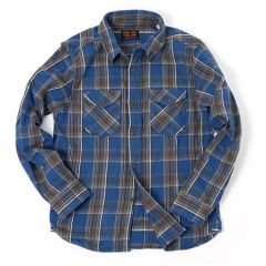 UES - 14.5oz Heavy Flannel Shirt - Deadstock Fabric - 502155_05 Navy