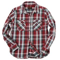 UES - 14.5oz Heavy Flannel Shirt - 502152_03 Red