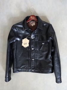 Y`2 LEATHER - Aniline Horsehide - 1st TYPE G ジャン Leather Jacket - Black