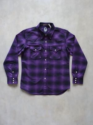 """DC4 x FULLCOUNT - Limited Collaboration - """" Western Shirt In Wooden Box """" - Ombre Check Heavy Flannel"""