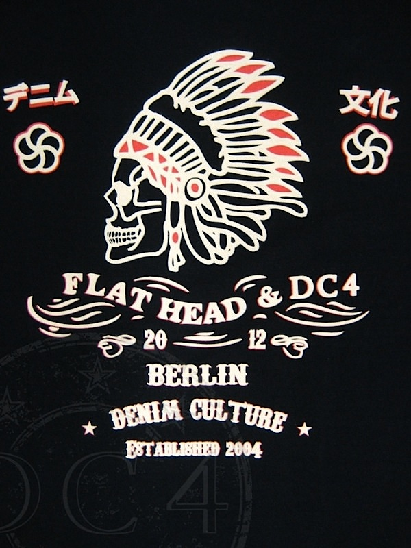 DC4 & The Flat Head - 1. European Party - T-Shirt Black